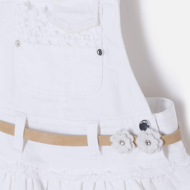 1578fd825b ... Mayoral white laced overall skirt