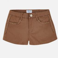 MAYORAL barna műbőr rövidnadrág