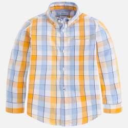 Mayoral sárga - kék kockás ing