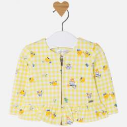 Mayoral madárkás sárga kabát