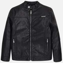 Mayoral fekete műbőr kabát