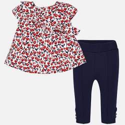 Mayoral virágos blúz + leggings