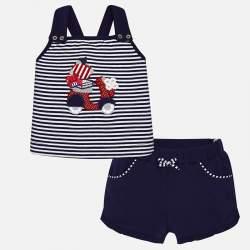 Mayoral csíkos trikó + rövidnadrág