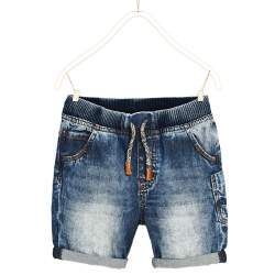 ZARA striped denim shorts