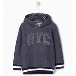 ZARA kék kapucnis pulóver
