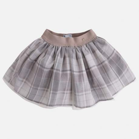 Mayoral brown tulle skirt