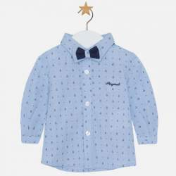 Mayoral blue shirt with polka dots