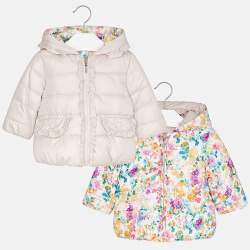 Mayoral double-sided jacket with flowers
