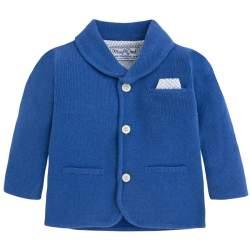 MAYORAL blue knittwear suit