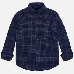 Mayoral/Nukutavake blue checkered shirt