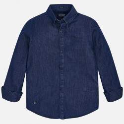 Mayoral/Nukutavake blue dotted shirt