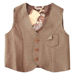 Sarabanda brown vest coat