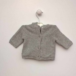 Obaibi Grey Knitted Cardigan