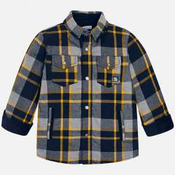 Mayoral lined checkered shirt