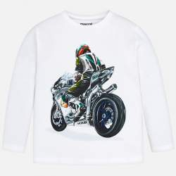 Mayoral long sleeve T-Shirt with motorcycle