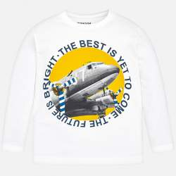 Mayoral long sleeve T-Shirt with airplane DC-3