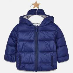 Mayoral blue hooded jacket