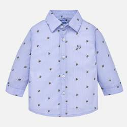 Mayoral blue shirt with foxes