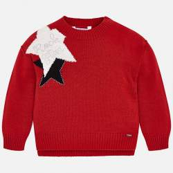 Mayoral red pullover with stars