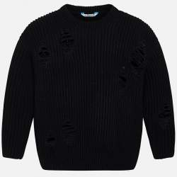 Mayoral black ripped pullover