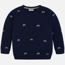 Mayoral/Nukutavake pullover with motorcycle