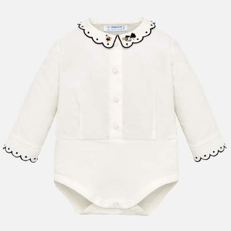 Mayoral body with embroidered collar