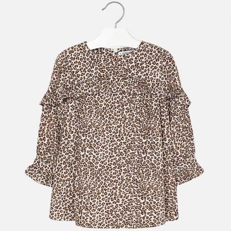 ZARA dress with leopard pattern