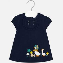 Mayoral blue dress with geese