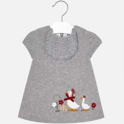 Mayoral grey dress with geese