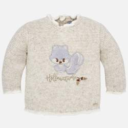 Mayoral knitted sweater with squirrel
