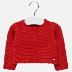Mayoral red knitted cardigan