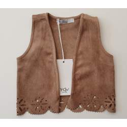 Y'clu brown indian vest