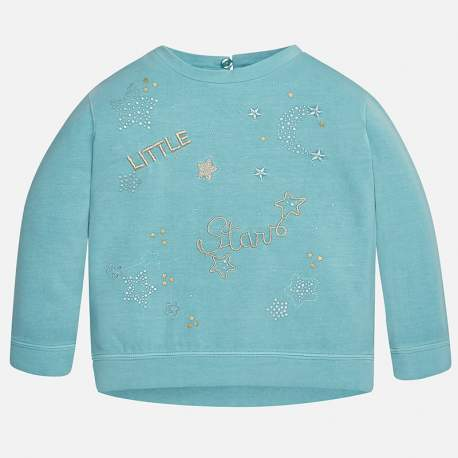 Mayoral pullover with rhinestones