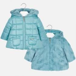 Mayoral light blue double-sided jacket