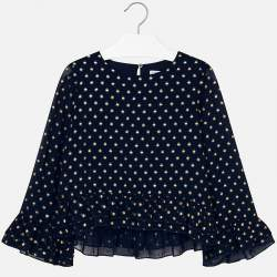 Mayoral dotted blue blouse