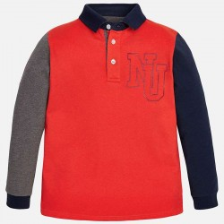 Mayoral collar long sleeve T-shirt - red