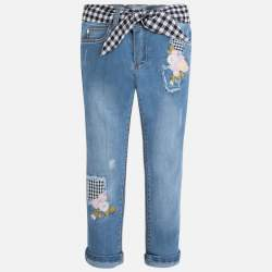 Mayoral embroidered denim