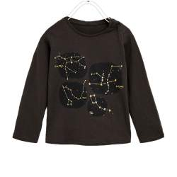 ZARA  long sleeve T-shirt with paillette