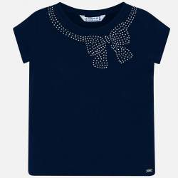 Mayoral blue blouse with rhinestones