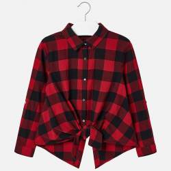 Mayoral cool red checkered shirt