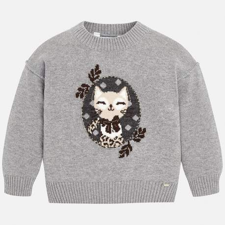 Mayoral grey pullover with kitty