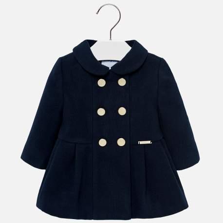 Mayoral blue hooded elegant coat
