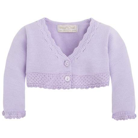 Mayoral purple bolero-cardigan