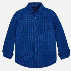 Mayoral/Nukutavake blue checkered shirt