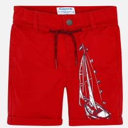 Mayoral red shorts with sailboat