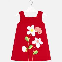 Mayoral red dress with flowers
