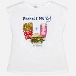 Mayoral T-shirt with hamburger
