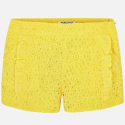 Mayoral yellow laced shorts