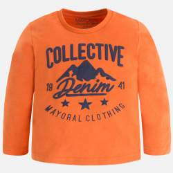Mayoral orange long sleeve T-Shirt