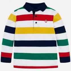 Mayoral striped piqué T-shirt